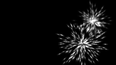white fireworks and particles explosion at night Stock Video Footage