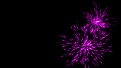 purple fireworks and particles explosion at night Stock Video Footage