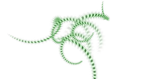 spiral green invertebrates body and swirl stripe wire,DNA... Stock Video Footage
