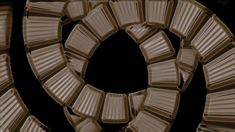 spiral stairs tunnel hole,square card papers math geometry array Animation
