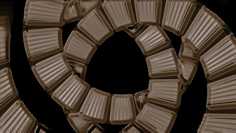 spiral stairs tunnel hole,square card papers math... Stock Video Footage