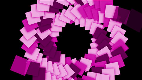 rotation plastic square card paper tunnel hole,math geometry arraya Animation