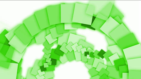 green square paper arch,computer tech web background Stock Video Footage