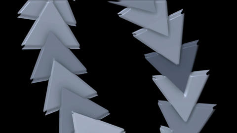 moving plastic arrow & triangle cards array,business... Stock Video Footage