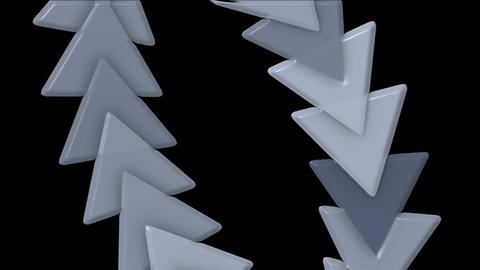 moving plastic arrow & triangle cards array,business computer background Animation