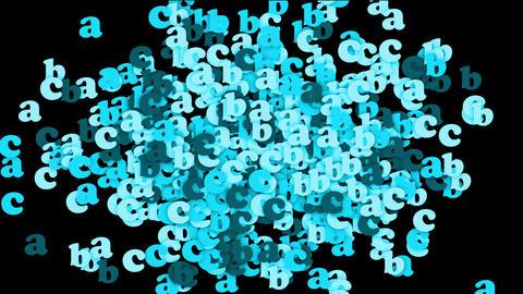 blue alphabet abc,cartoon letters paper card Stock Video Footage
