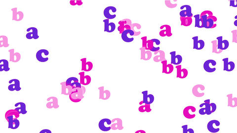 color alphabet abc,cartoon letters paper card Stock Video Footage