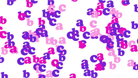 color alphabet abc,cartoon letters paper card Animation