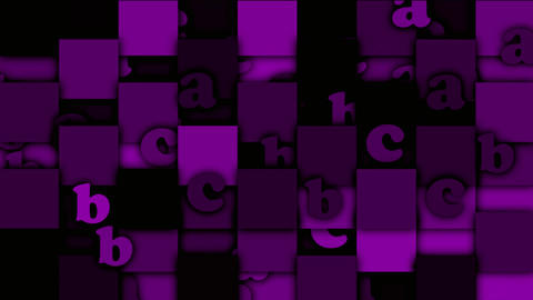 purple cartoon alphabet paper card on square... Stock Video Footage