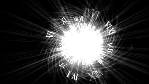 roman numerals & explosion rays light from electric... Stock Video Footage