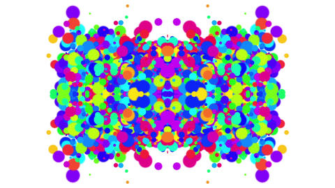 abstract colorful circles,bubble & blister array... Stock Video Footage