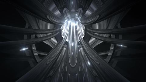 Tunnel tube metal C 01b 2 HD Stock Video Footage