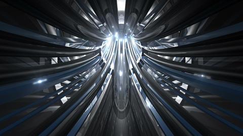 Tunnel tube metal C 01c HD Stock Video Footage