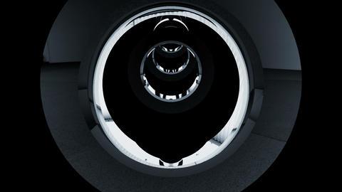 Tunnel tube metal C 01g HD Stock Video Footage