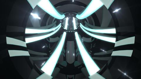 Tunnel tube metal C 01k 2 HD Stock Video Footage