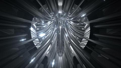 Tunnel tube metal C 02c 2 HD Stock Video Footage