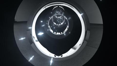 Tunnel tube metal C 02g 2 HD Stock Video Footage