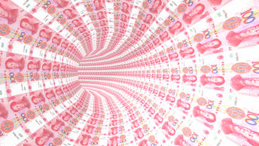 RMB 100 background tunnel hole Animation