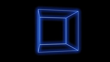 rotation frame cube,tech web virtual background Animation