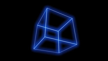rotation frame cube bottom,tech web virtual background Stock Video Footage