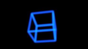 rotation frame cube bottom,tech web virtual background Stock Video Footage