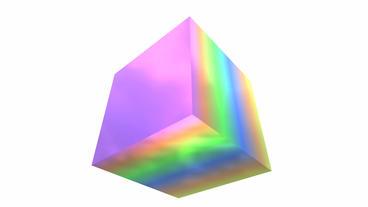 rotation rainbow colors cube,tech web virtual back Stock Video Footage