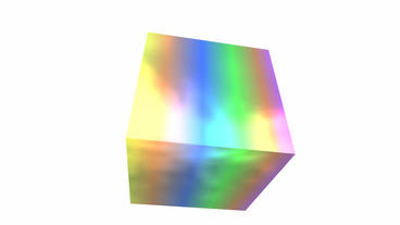 rotation rainbow colors cube,tech web virtual back Stock Video Footage