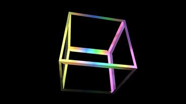 rotation rainbow colors cube frame,tech web virtual... Stock Video Footage