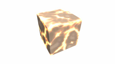 rotation lava material cube,tech web virtual background Stock Video Footage