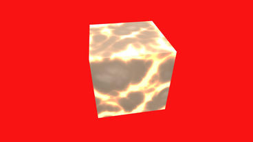 rotation lava material cube,tech web virtual background Animation
