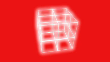 rotation grid cube frame,tech web virtual background Animation