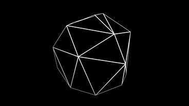 3d grid tetrahedron frame,tech web virtual background Animation