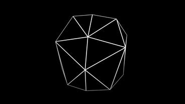 3d grid tetrahedron frame,tech web virtual background Stock Video Footage