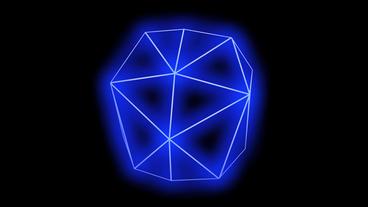 3d grid tetrahedron frame,tech web virtual background Stock Video Footage