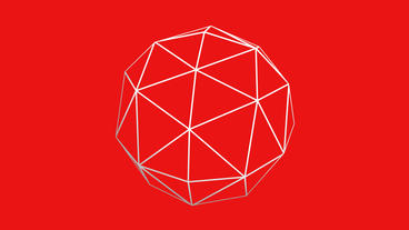 3d grid octahedral frame,tech web virtual background Stock Video Footage