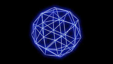 3d grid octahedral frame,tech web virtual background Animation