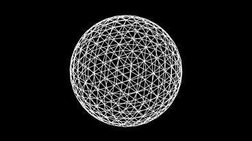 3d grid ball frame,tech web virtual background Stock Video Footage