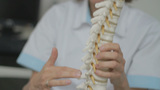 Chiropractor Explaining Spine 25fps stock footage