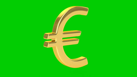 Golden Euro Sign - Isolated Animation