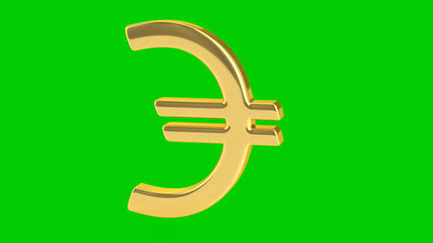 Golden Euro Sign - Isolated Stock Video Footage