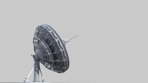 rotating radio telescope Stock Video Footage