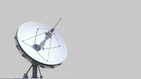 rotating radio telescope Animation