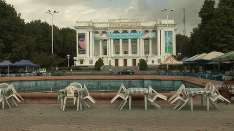 Aini Square Dushanbe Tajikistan Stock Video Footage