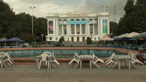 Aini Square Dushanbe Tajikistan Footage