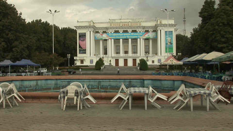 Aini Square Dushanbe Tajikistan Stock Video Footage
