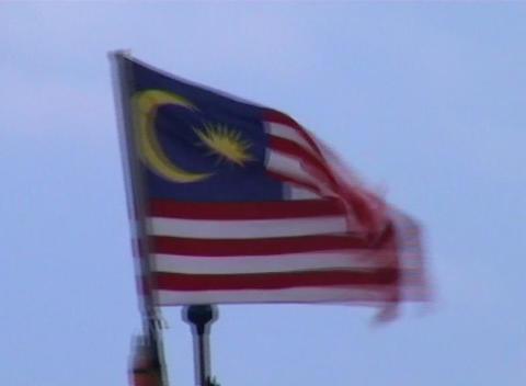 Malaysian flag Stock Video Footage