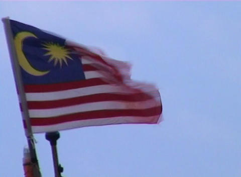 Malaysian flag Stock Video Footage