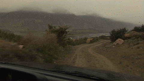Driving in Wakhan Valley Rain Tajikistan 3 Footage