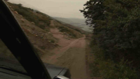 Driving in Wakhan Valley Rain Tajikistan 5 Stock Video Footage