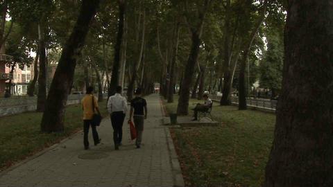 Park Locals Dushanbe Tajikistan 3 Stock Video Footage